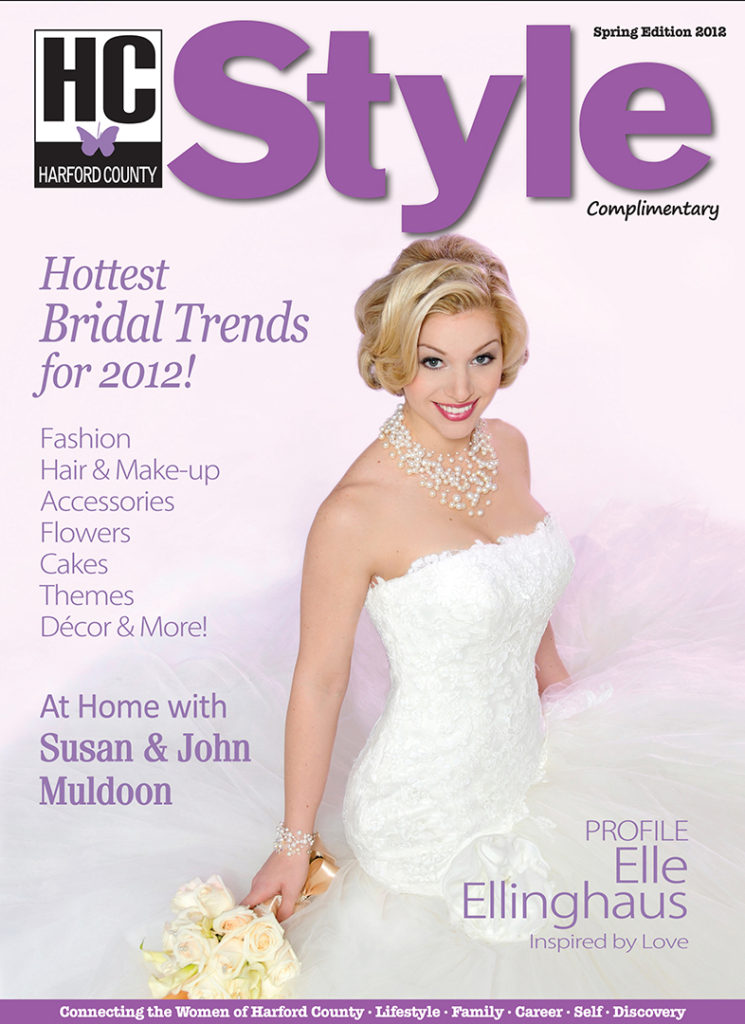 Editorial Bridal Hair styling by Lisa Jones-Butz for Harford Style Magazine